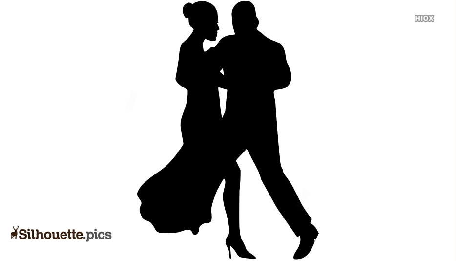 Old Couple Dancing Silhouette Clip Art