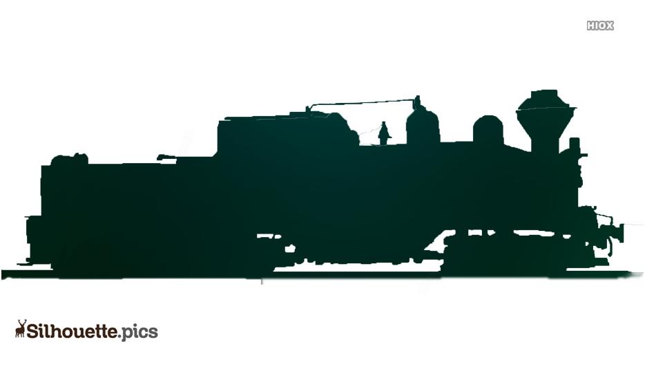 Old Passenger Train Silhouette