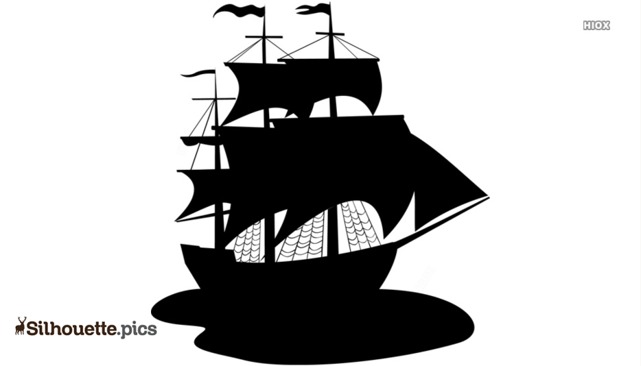 Pirate Ships Silhouette Images, Pics