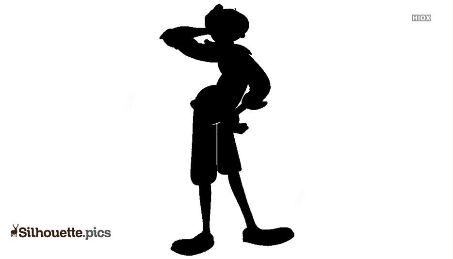 Olive Oyl Giving Pose Silhouette