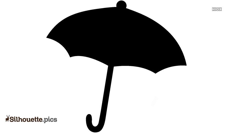 Open Umbrella Silhouette Clipart