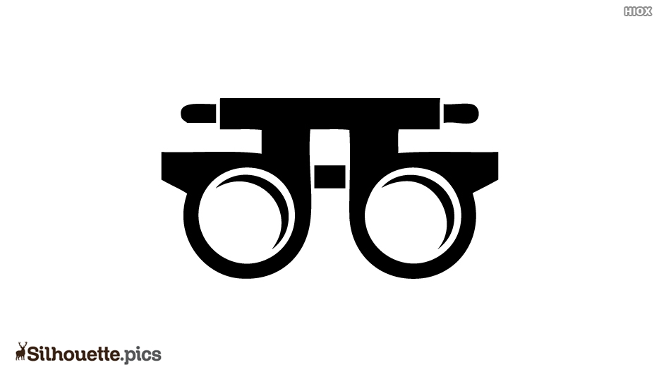 Optometry Silhouette Icon Vector Image