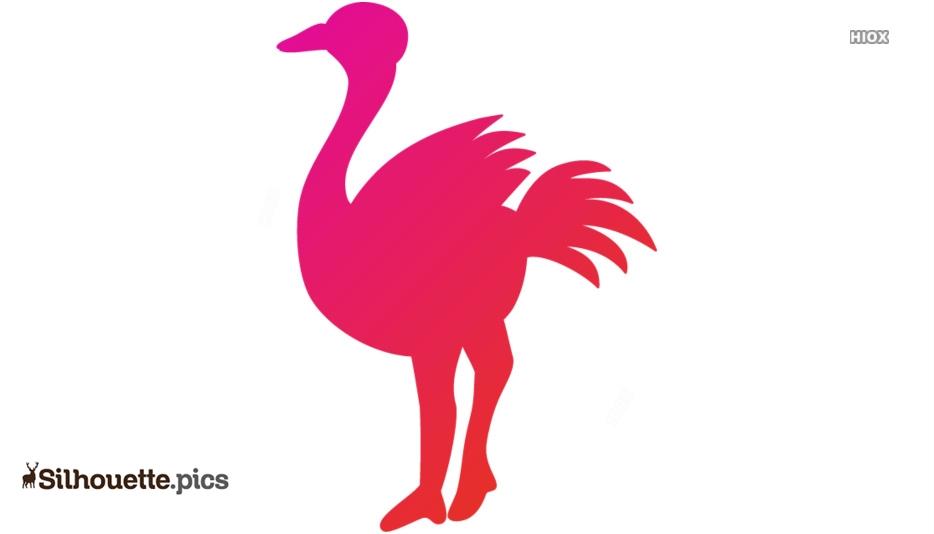 Ostrich Symbol Silhouette