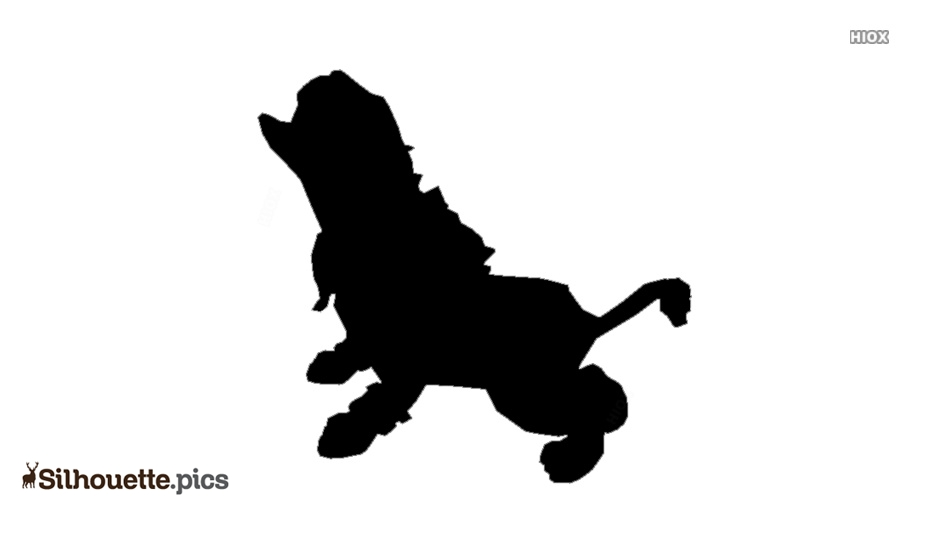 Panther Cub Silhouette Icon