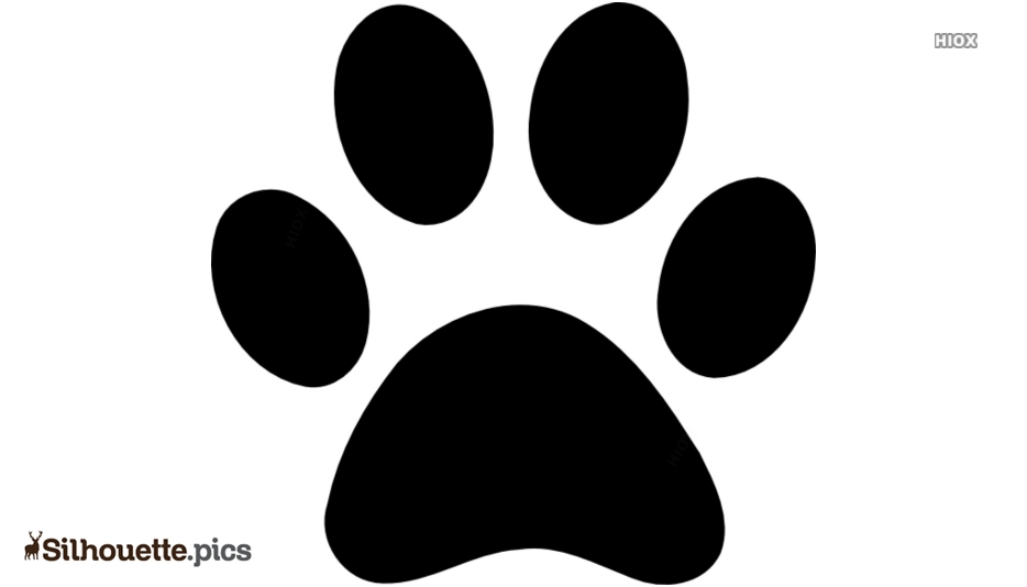 Panther Paw Silhouette Clip Art