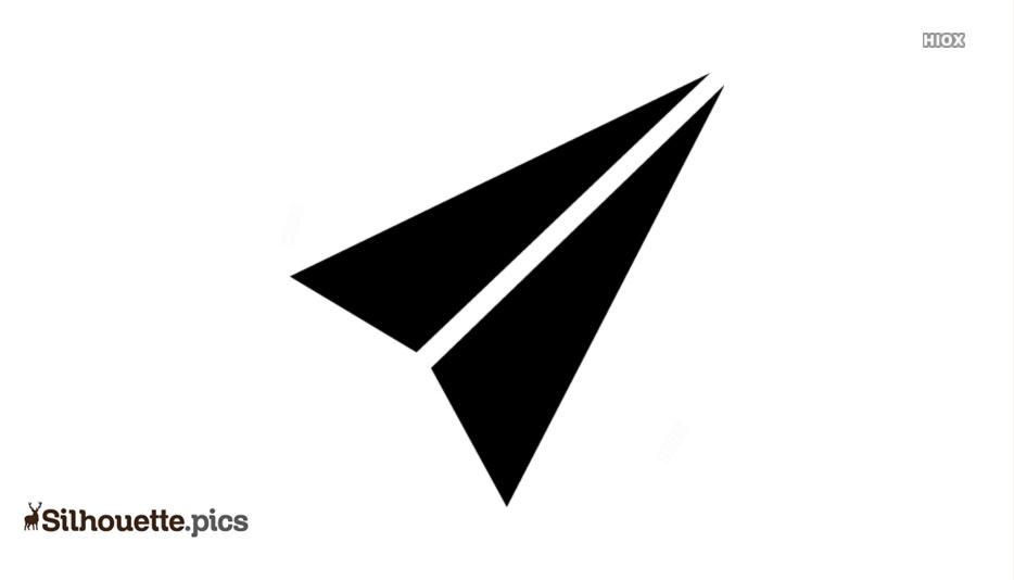 Paper Arrow Silhouette Clipart