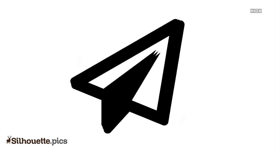 Paper Plane Silhouette Free Vector Art