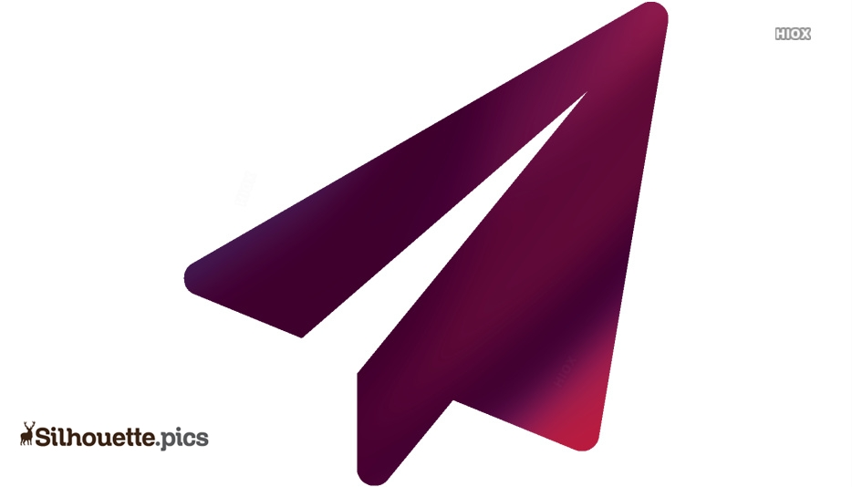 Paper Plane Silhouette Image