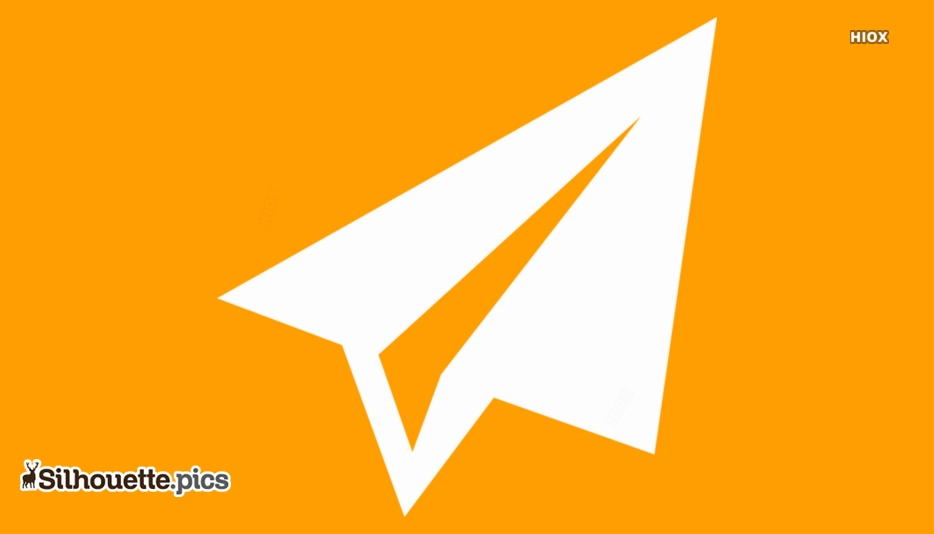 Paper Plane Vector Silhouette Images