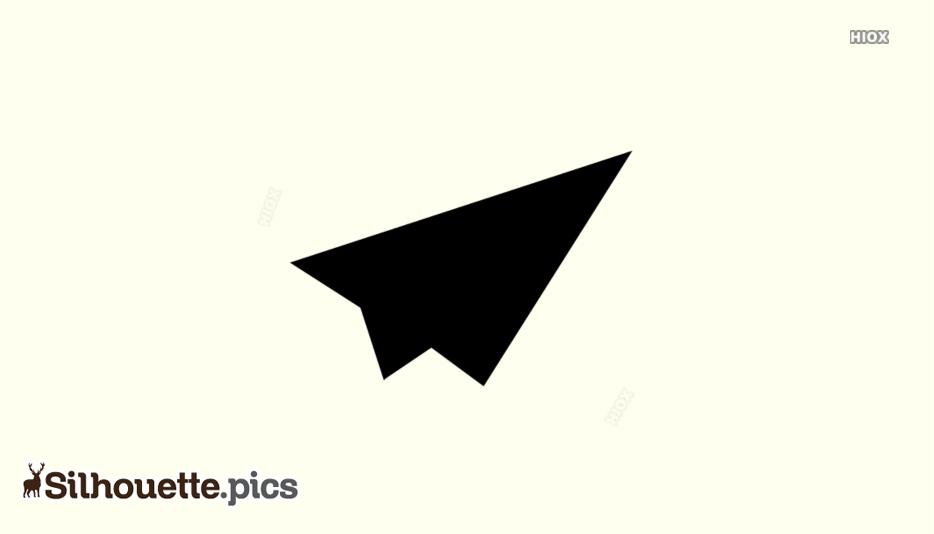 Paper Rocket Silhouette