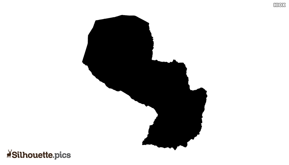 Paraguay Map Silhouette Vector