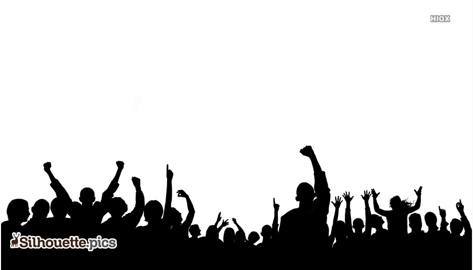 Party Crowd Silhouette Png