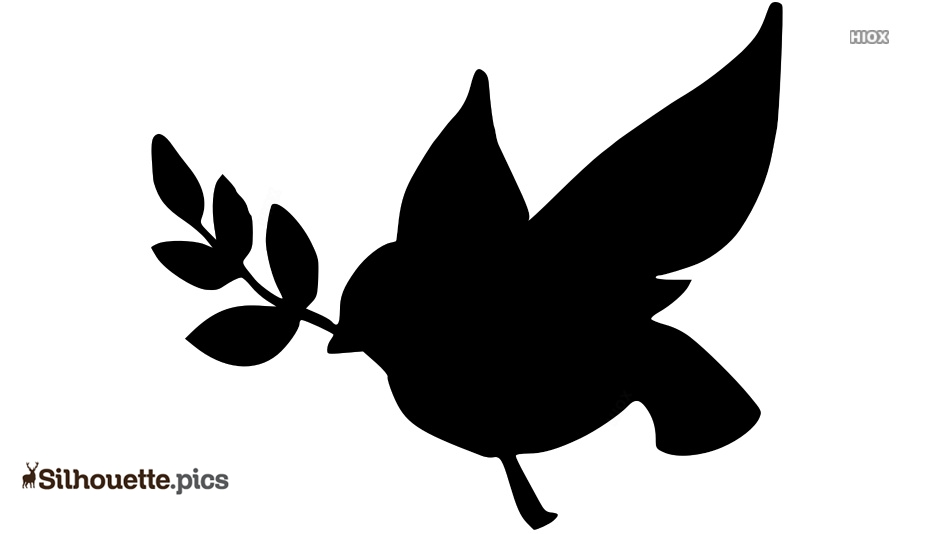 Peace Dove Silhouette Image And Vector @ Silhouette pics