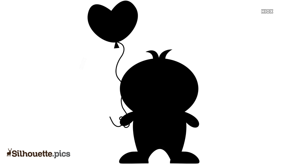 Penguin In Love Silhouette Art