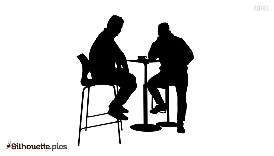 People Sitting Silhouette Png