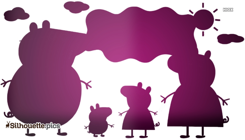 Peppa Pig and Family Silhouette