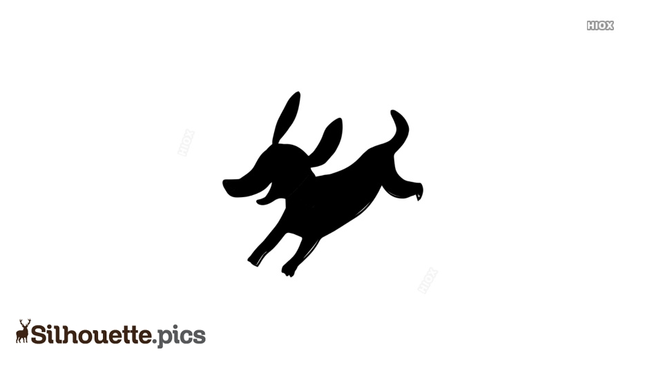 Pet Dog Running Silhouette