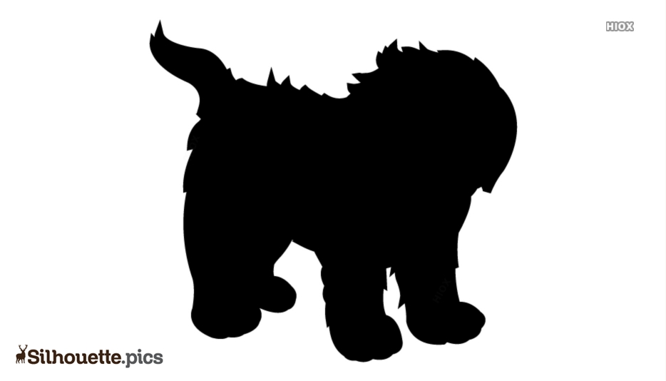 Pet Dogs Silhouette Background