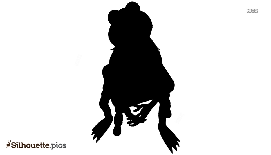 Pet Frog Silhouette Illustration