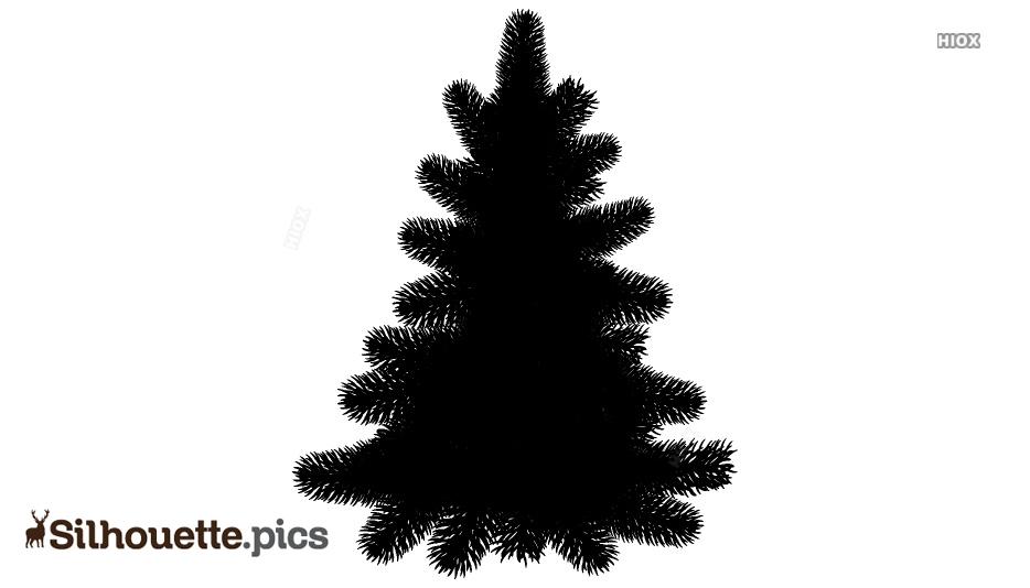 Pine Tree Silhouette Vector