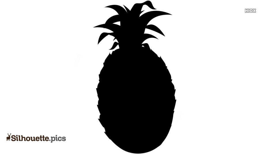 Pineapple Clipart Silhouette Vector And Graphics