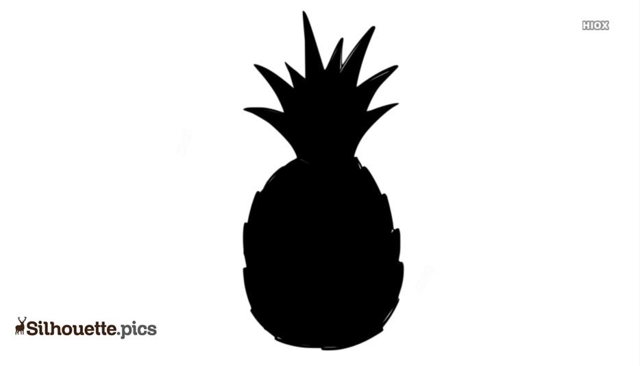 Pineapple Stencil Silhouette