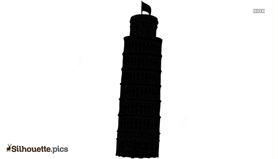 Pisa Tower Silhouette Clipart Image