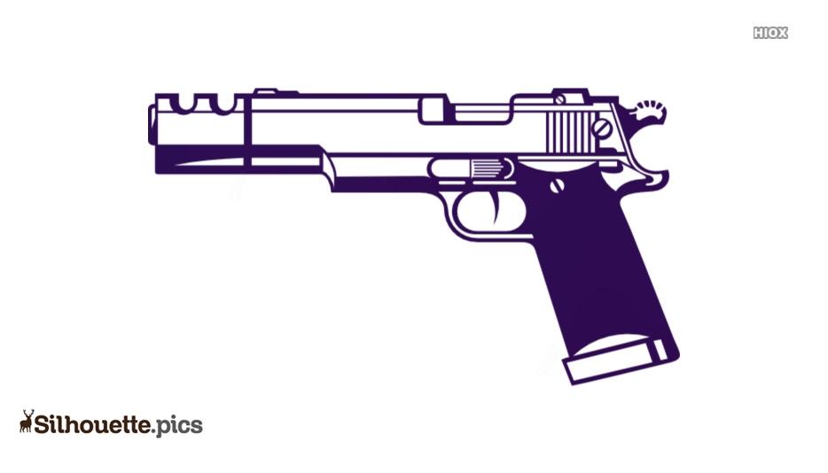 Pistol Clip Art Silhouette