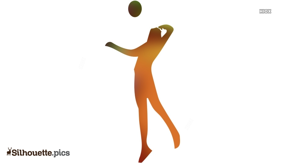 Playing Volleyball Silhouette, Ball Hitter Image