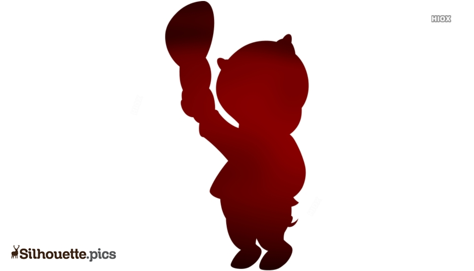 Porky Pig Logo Silhouette For Download