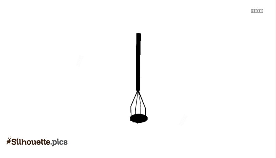 Potato Masher Vector Silhouette