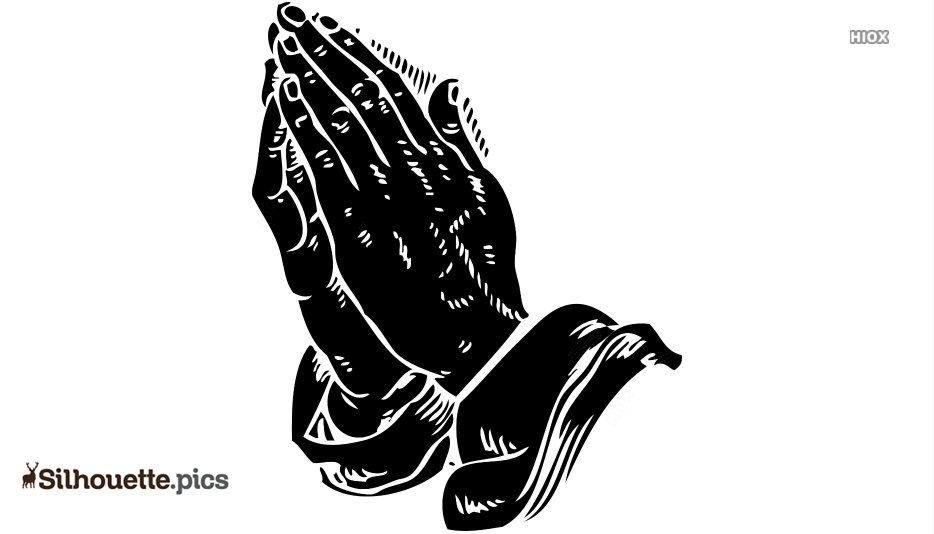 Praying Hands Silhouette Vector And Graphics