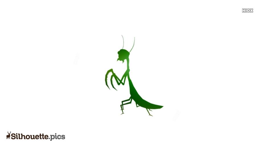 Praying Mantis Silhouette