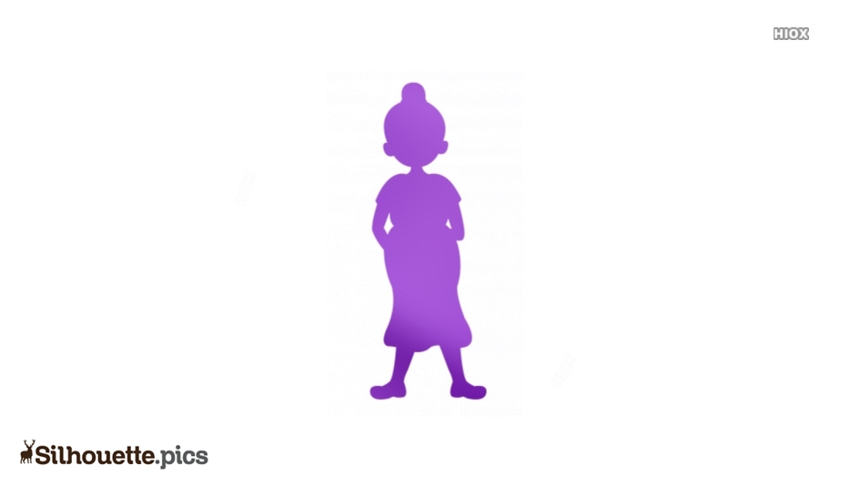 Pregnant Lady Silhouette Vector