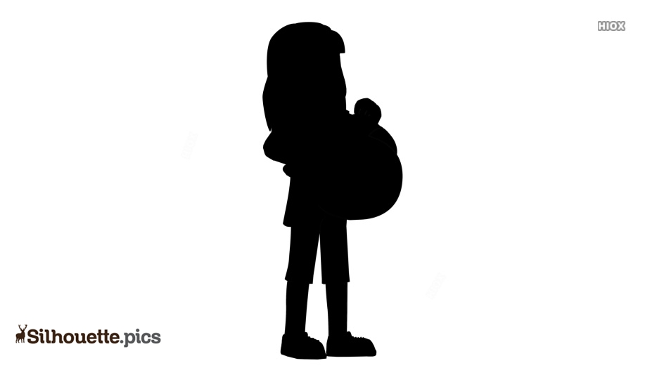 Pregnant Woman Cartoon Silhouette Clipart