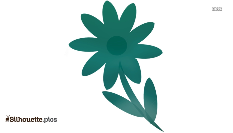 Pretty Flower Silhouette Clipart