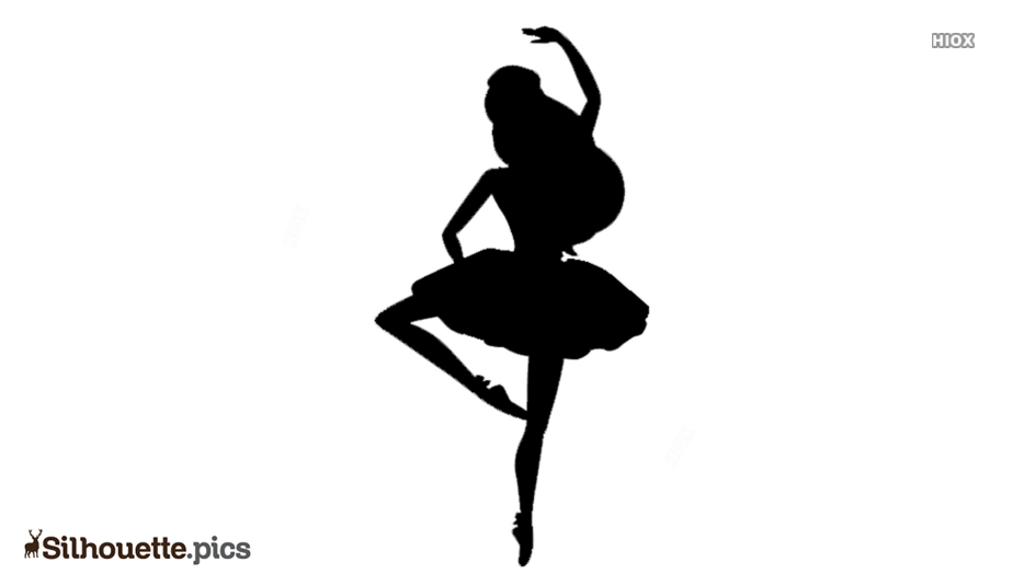 Princess Ballerina Dance Silhouette Free Vector Art