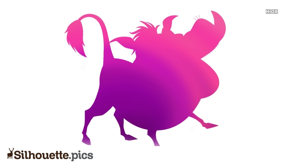 Pumbaa Disney Clip Art, Pumbaa Cartoon Silhouette