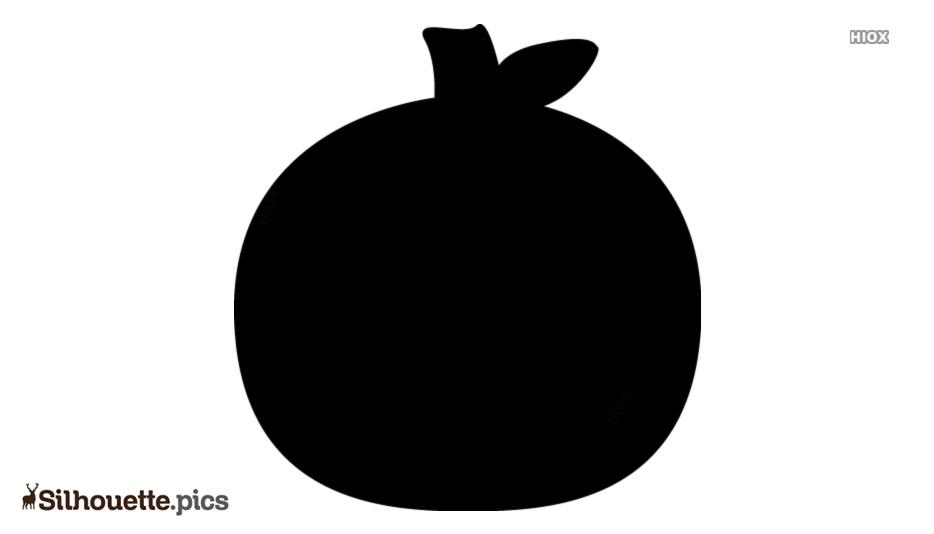 Pumpkin Black And White Silhouette Free Vector Art