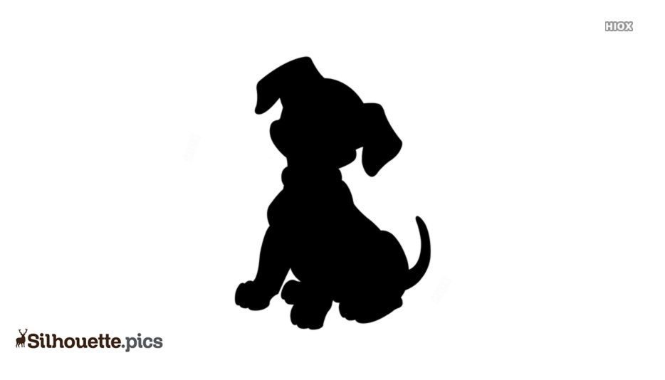 Puppy Dog Silhouette Image