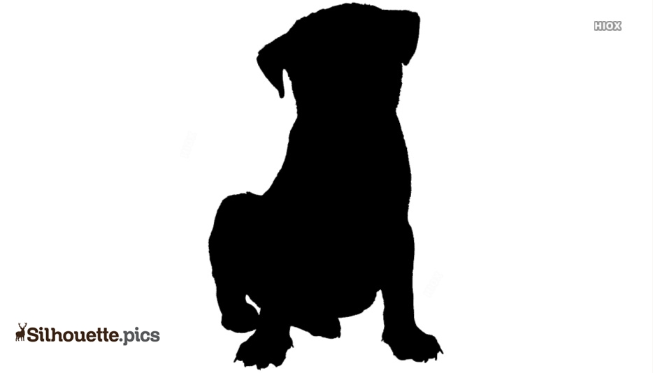 Puppy Silhouette Drawing