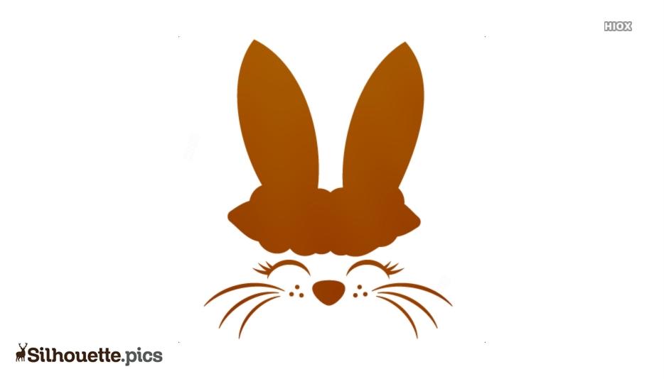 Rabbit Face Symbol Silhouette