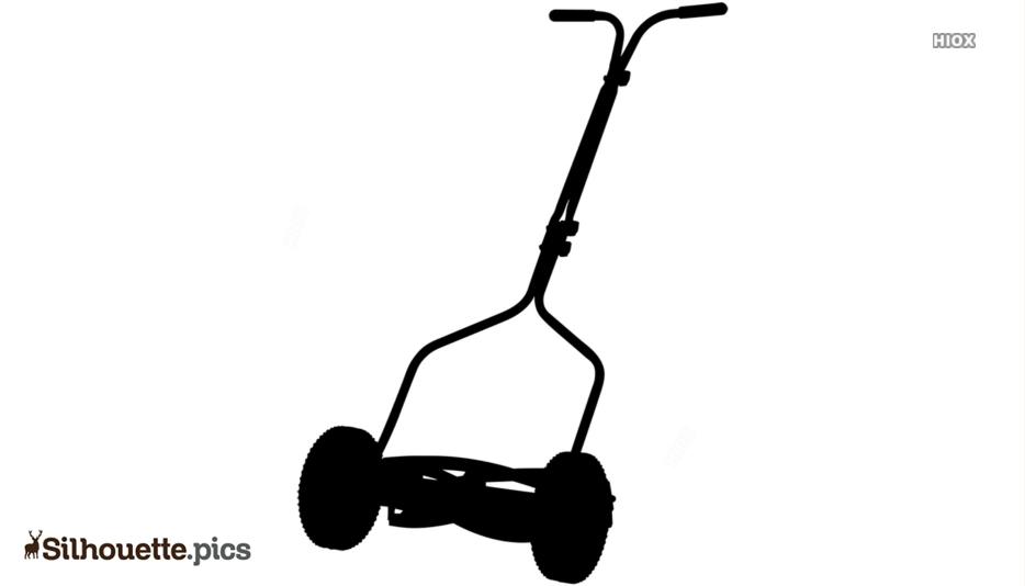 Reel Mower Silhouette Free Vector Art