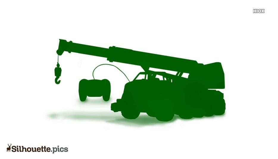 Remote Crane Toy Silhouette Clip Art