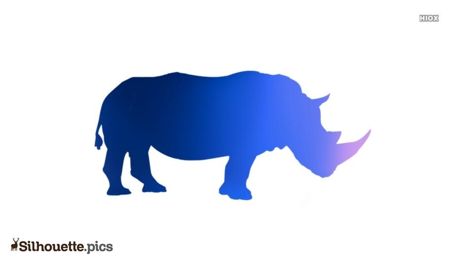 Rhinoceros Silhouette Clipart Image