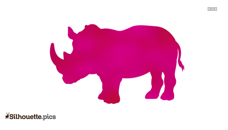 Rhinoceros Silhouette Clipart, Vector