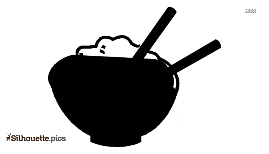 Rice Bowl Vector Silhouette Image