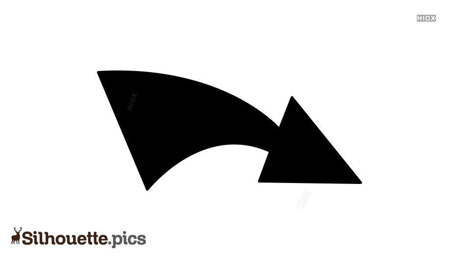 Right Curved Arrow Symbol Silhouette