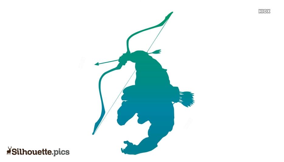 Robin Hood Arrow Silhouette Clipart