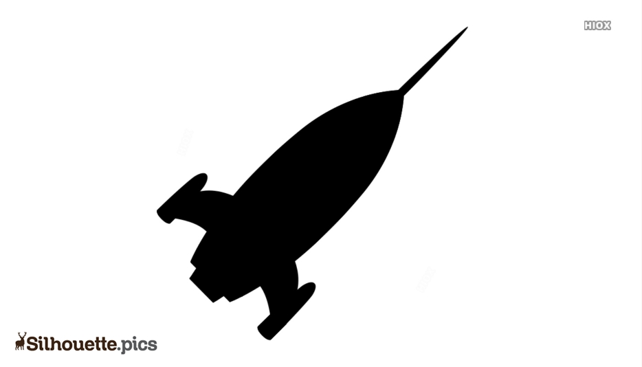 Rocket Blasting Off Silhouette Images